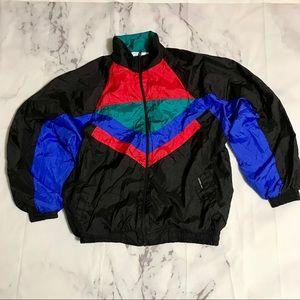 Rare Members Only Color Block Windbreaker Jacket